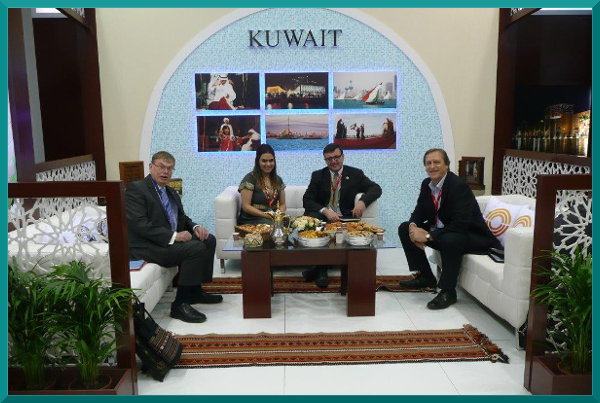 Robert Travers, with Team Kuwait at ITB Berlin