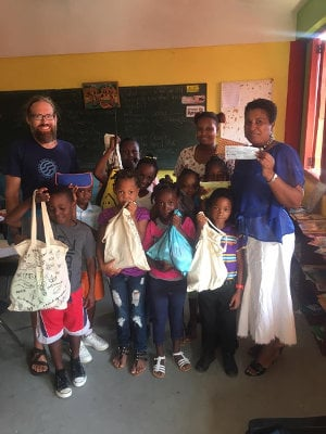 3 Rivers Eco Lodge supporting the local school at Grand Fond village, Dominica