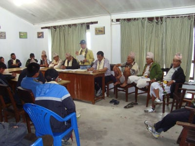 Formation of new conservation area management committee in Sikles, ACA
