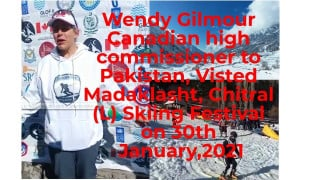Canadian High commissioner for Pakistan visit to Madaklasht, Chitral (L), for Skiing event 2021 - YouTube