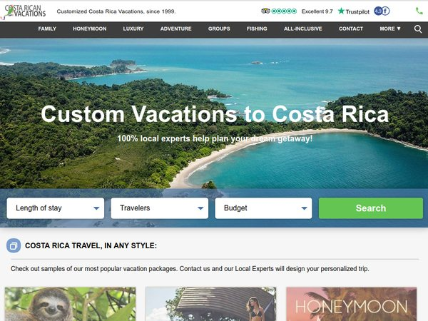 Costa Rican Vacations offer scholarships