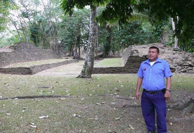 The Mayan site of Nim Li Punit, Belize