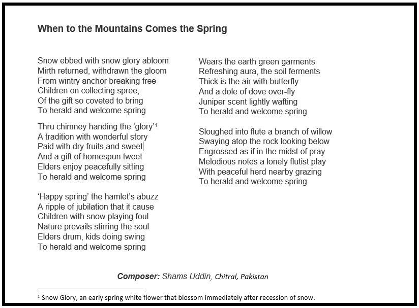 When to the Mountains Comes the Spring