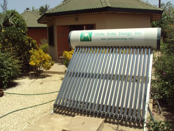 2u: One of two very efficient solar water heaters that were installed in 2011 to replace and upgrade the originals.
