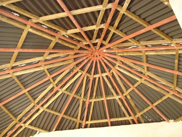 Ceilings are constructed with locally welded metal joists and locally grown sustainable wood (Malaina) and termite resistant redwood.
