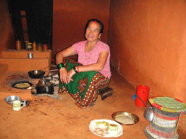 Host Mother Preparing Breakfast
