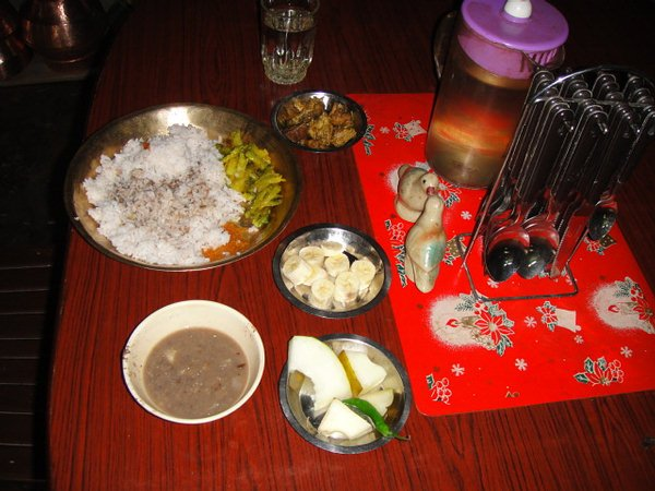 Typical Meal offered to the Tourists