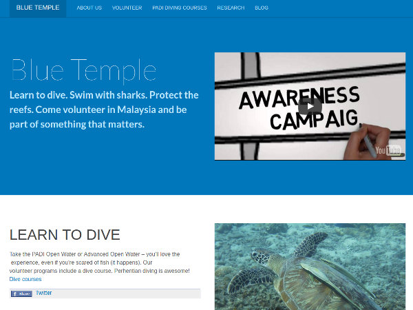 Blue Temple Conservation