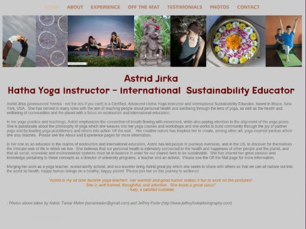 Astrid Jirka - Hatha Yoga Instructor