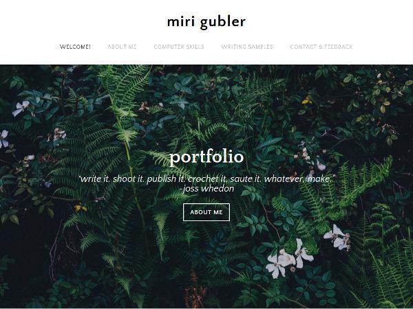 Miri Gubler Portfolio