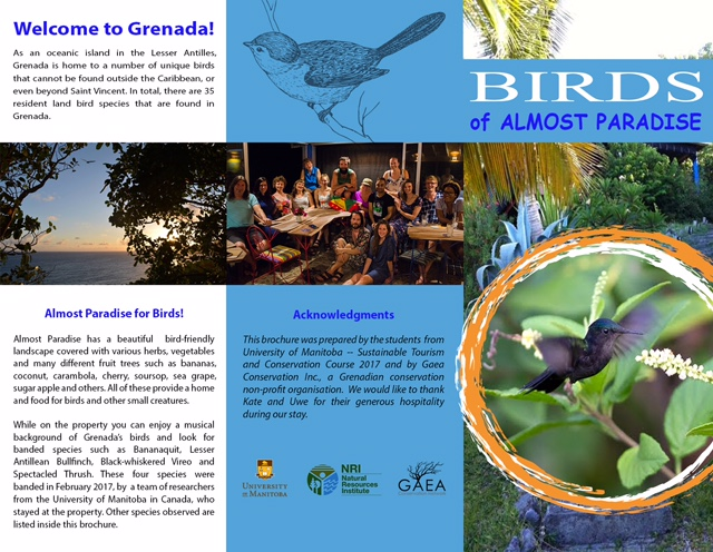 Birds of Almost Paradise, based on research by the University of Manitoba, Canada.
