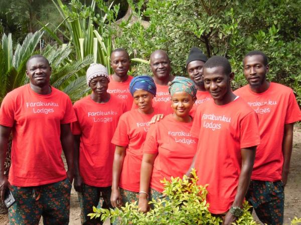 Staff team - All local Gambians with live-in accommodation for those without family homes. Uniform and daily meals provided.