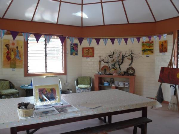 The art and craft studio - In the grounds adjoining the lodges where we also grow our own salads, some vegetables and herbs.