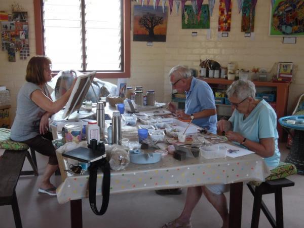 Art workshop in progress