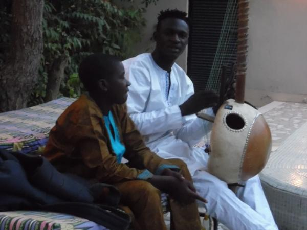 Kora Player - One of a range of visiting traditional and cultural musicians who entertain guests